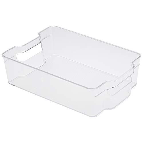 Amazon Basics Plastic Fridge Storage Bin – Large (2-Pack)