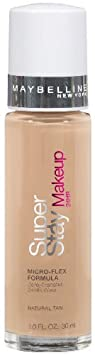 Maybelline New York Super Stay 24Hr Makeup, Natural Tan, 1 Fluid Ounce Pack of 2