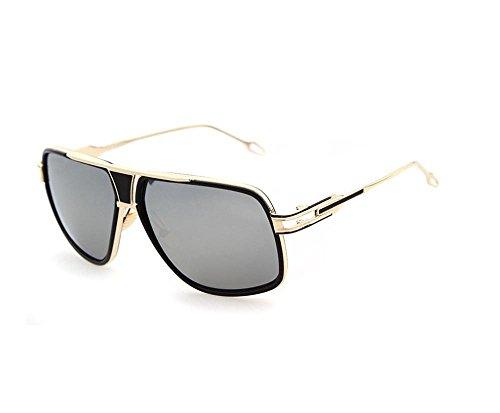 Tou che metal sunglasses retro sunglasses trend of street shooting (Silver color, - Korean Trend Sunglasses