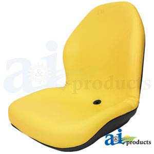 - LGT125YL High-Back Contour Seats in Yellow Fits John Deere, Bobcat, Gravely, Exmark, Scag, New Holland