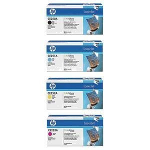 Genuine New HP Toner Cartridge Set CE250A CE251A CE252A CE253A, Office Central