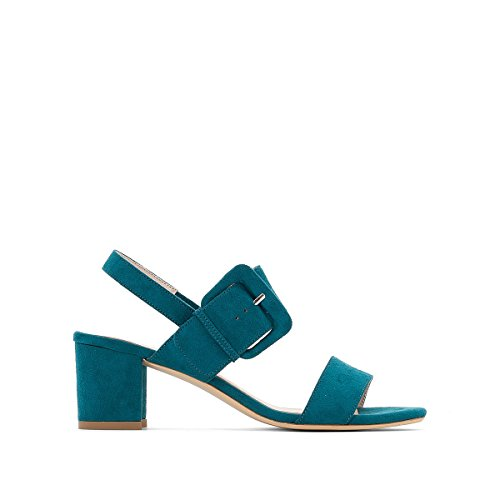 La Redoute Collections Womens Sandals with Buckle Detail Green