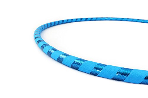 Weighted Fitness Hula Hoop. Great for Exercise, Dancing, Staying in Shape and Having Fun! (Sky Blue, Fitness Hoop 36