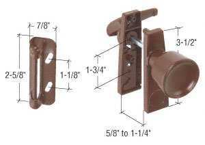 Chocolate Brown Screen and Storm Door Tulip Knob Latch 1-3/4
