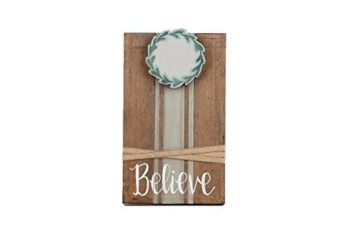 Glory Haus Believe w/Wreath Ribbon Frame -