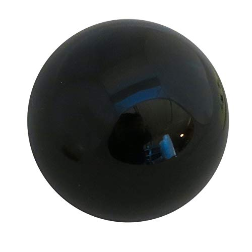 Rock Ridge 76mm Black Acrylic Juggling Ball for Contact Juggling | Great for Beginners and Professionals