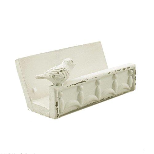 Cute Business Card Holder (Desk Business Card Holder Stand Bird Design (White))