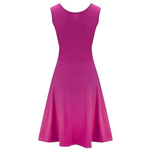 Dress Line Womens A Flared Sleeveless Purplered Dress Cotton Sundress CosyZanx Tank Summer Beach BtqxvnwR