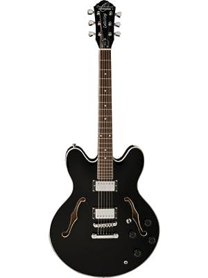 Oscar Schmidt OE30 Semi-Hollow Electric Guitar - Black