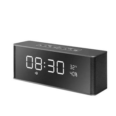 xingganglengyin Alarm Clock Bluetooth Speaker Wireless Card Stereo subwoofer with time Gift Creative Audio by xingganglengyin (Image #3)