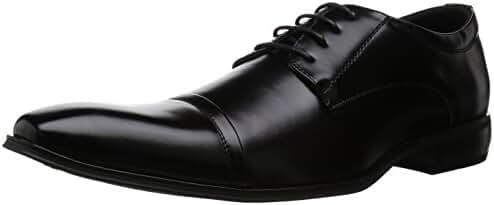 MM/ONE Mens Derby Shoes Oxford Shoes Straight tip Lace-up KingSize Bigsize Cap toe Dress Black Dark Brown