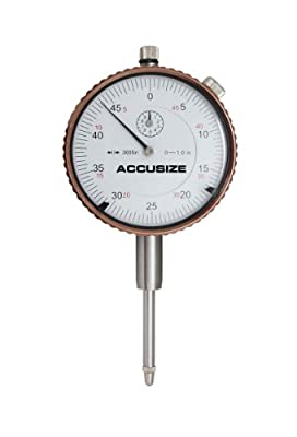 AccusizeTools - 0-1'' x 0.0005'' Dial Indicator, AGD2 Style, with Back Lug, #P900-S099