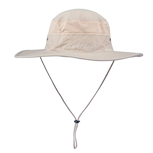 932b4c9be Lenikis UV Protection Sun Hat Adventure Bucket Hat for Camping Cycling  Fishing Outdoor Activities Khaki