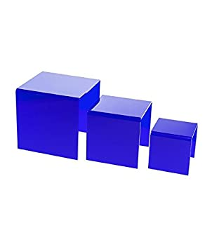Versatile Deluxe Acrylic Display Case – Small Rectangle Box with Gold Risers and Mirror 7.75 x 7.75 x 8.5 A015-GR