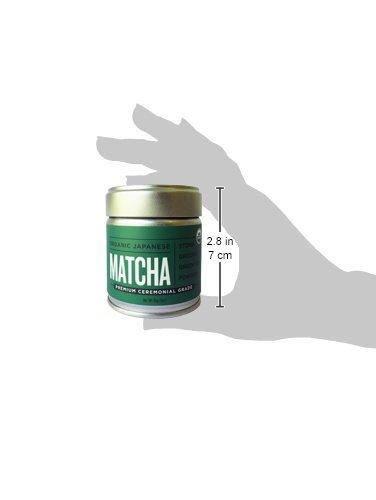 Jade Leaf Matcha Green Tea Powder - USDA Organic - Premium Ceremonial Grade (For Sipping as Tea) - Authentic Japanese Origin - Antioxidants, Energy [30g Tin] by Jade Leaf Matcha (Image #6)