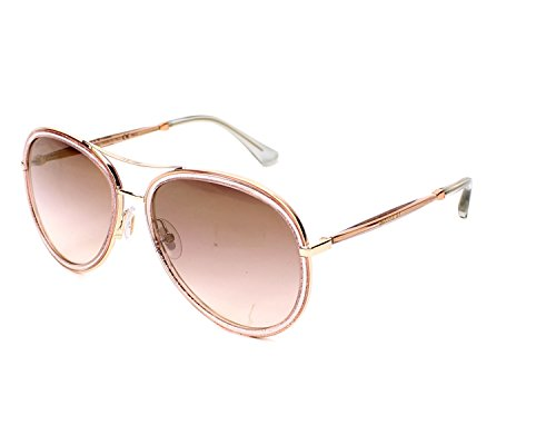 Jimmy Choo Tora/S QBQ Pink Glitter Tora/S Pilot Sunglasses Lens Category 2 ()