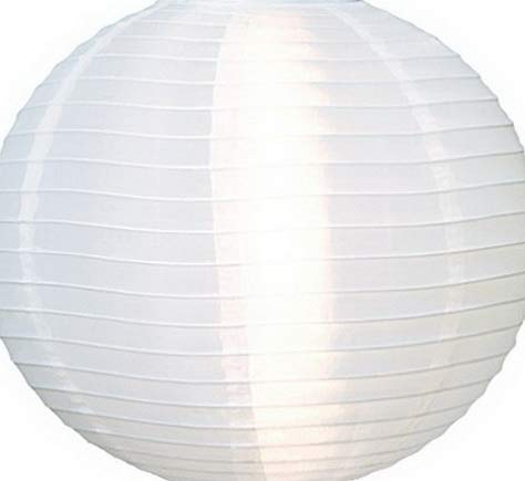Kaputar Round Nylon Outdoor Paper Lantern for and Decorations (16-Inch, White) | Model WDDNG -75 ()