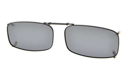Eyekepper Metal Frame Rim Polarized Lens Clip On Sunglasses 2 1/4x1 3/16