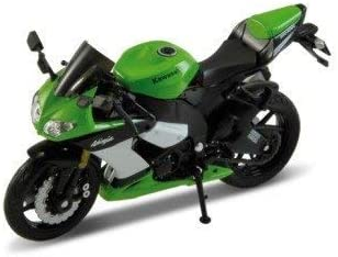 Welly Kawasaki Ninja zx-10r EN Verde 1:18 Escala: Amazon.es ...