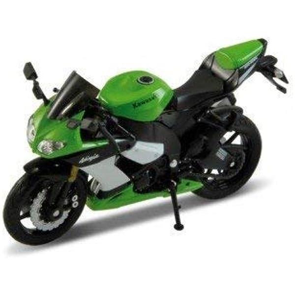 Welly Kawasaki Ninja zx-10r EN Verde 1:18 Escala: Amazon.es ...