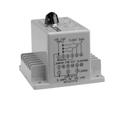 ATC ARA-120-AEA Plug-In Duplexor Alternating Relay, 120 VAC or VAC/DC, DPDT (Cross Wired) by Atc