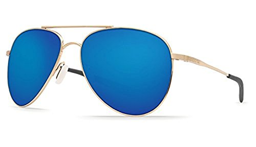 Costa Cook Sunglasses Gold / Blue Mirror 580G & Cleaning Kit Bundle