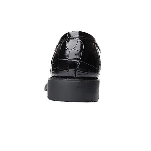 Scarpe Inteligente Casual da Ufficio Moda su Scivolare Nappa Nero Vestito Mocassini NXY Uomo Pwq5Un8