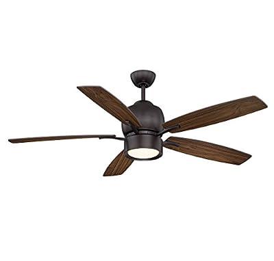 "Savoy House 52-120-5WA-13 Girard 52"" 5-Blade Ceiling Fan in English Bronze"