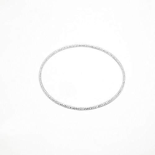 LTH12 Bangles 5PC/Set Fashion Gold and Silver Bangles Bracelets for Women 68mm Big Circle Wire Bangle Jewelry 1 PCs