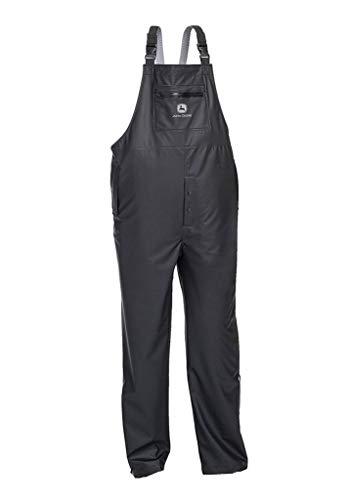 (West Chester John Deere JD44540B Premium Waterproof Industrial Stretch Rain Bib: Black, Large)