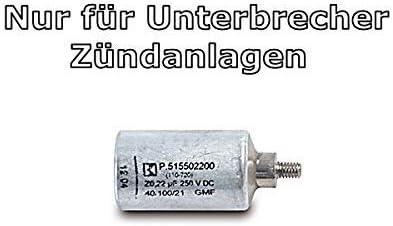 Kondensator Zündkondensator 9042 M 0 22 Mf Für Simson Moped S Mit Unterbrecher Zündanlage Auto