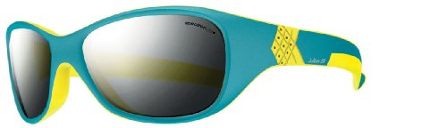 Julbo Kids Sunglasses - Julbo Kid's Solan Sunglasses, Spectron 3+ Lens, Blue/Yellow, 4-6 Years