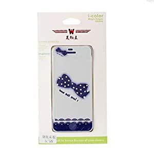 Bow and Lace Pattern Color Shining Screen Protective Film Stick By Yourself for iPhone 5/5S