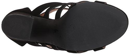 Qupid Women's Chunky Heeled Sandal Black Nubuck Xk11k