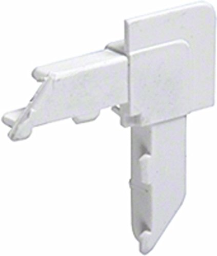White Square Lip Frame Plastic Corners for WSFL8 Pack of 100 ()