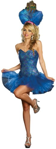 Envy Costumes (Peacock Envy Costume - X-Small - Dress Size 0-2)