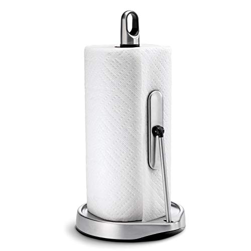 simplehuman Tension Arm Paper Towel Holder, Stainless Steel, Brushed