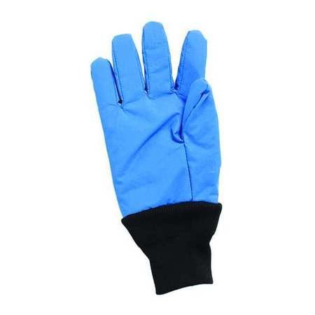 National Safety Apparel G99CRBERSMWR Nylon Taslan and PTFE Wrist Standard Water Resistant Safety Glove, Cryogenic, 12'' Length, Small, Blue