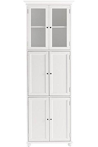Hampton Bay 6 Door Tall Bath Cabinet, SIX DOOR, WHITE