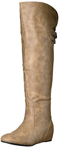 Image of Brinley Co Women's Wing Over The Knee Boot