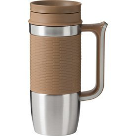 (Trudeau Boardroom II Travel Mug, 16 oz, Tan/Beige)