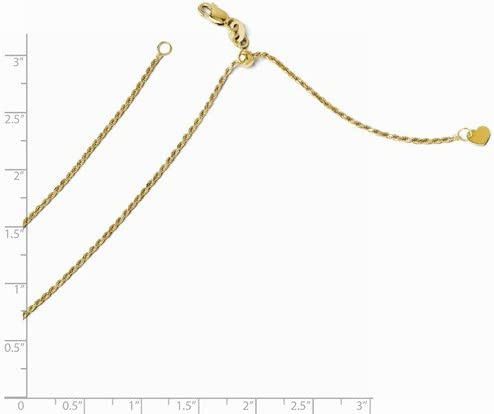 14K Yellow Gold Granduation Cap//Hat and Diploma Pendant on an Adjustable Chain Necklace