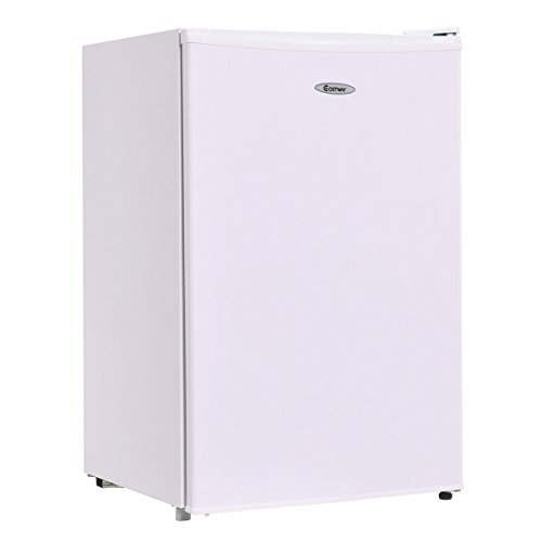 Costway 4.3 cu. ft. Compact Mini Door Mini Refrigerator Freezer Cooler,White
