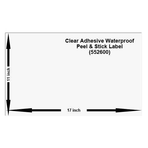 11x17 Waterproof Peel and Stick Labels, Pack of 10, Clear (552600)