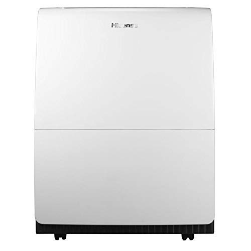 Hisense 100 Pint Dehumidifer DH100KP1WG with Built in Pump and Hose and removes Moisture for Large Space up to 1,500-sq ft. (Renewed)