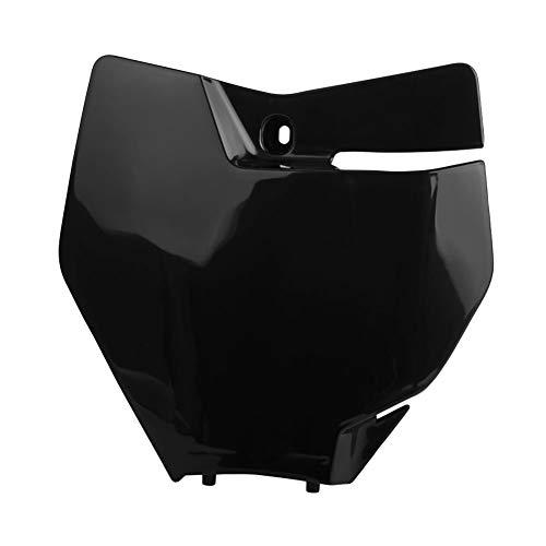 Ktm Number Plates - Polisport Front Number Plate Black - Fits: KTM 250 XC 2017-2019