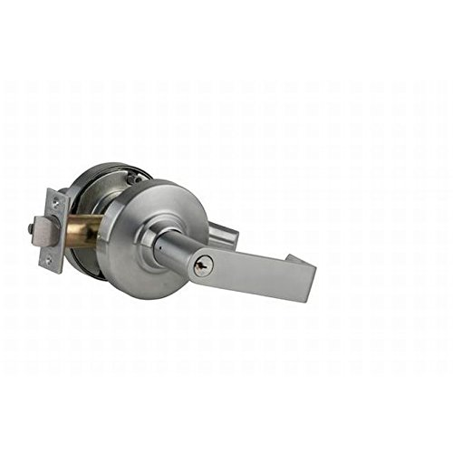 Satin Chrome Finish Storeroom Function Schlage commercial ND80PDRHO626 ND Series Grade 1 Cylindrical Lock Rhodes Lever Design