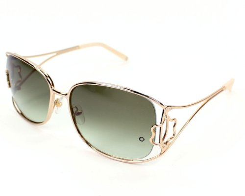 Mont Blanc MB 318S/S 32P Rose Gold Square Sunglasses