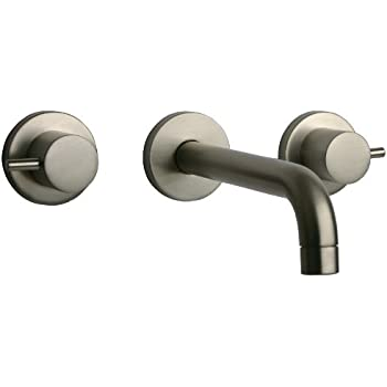 La toscana 78pw207 elba 8 inch wall mount lavatory faucet - 8 inch brushed nickel bathroom faucet ...