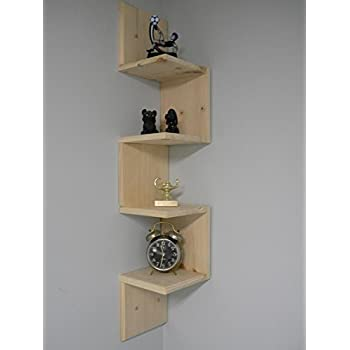 Amazon Com Unfinished Corner Shelf 12 Quot X 12 Quot X 0 6 Quot 4